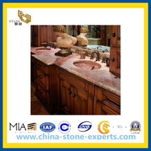 Natural Stone Red Marble Coral Red Slabs Countertops(YQG-MC1004)