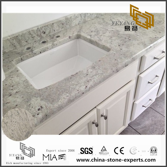 Different Andromeda White Granite Countertops for Bathroom Design (YQW-GC0714012)