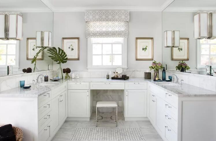 White Carrara Marble Bathroom vanity tops