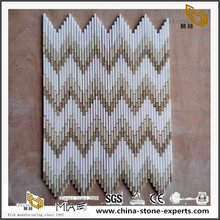 Long And Narrow Special Model Marble Mosaic Colorful Twall Tiles
