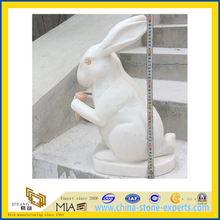 Animal Marble Statue /Rabbit Sculpture for Garden (YQA)