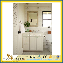White Castro Marble Vanity Top for Bathroom, Hotel
