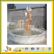 Hand Carved Garden Lady Water Fountain (YQA-F1004)