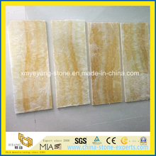 Translucent Honey Onyx Glass Composite Panel for Interior Walling