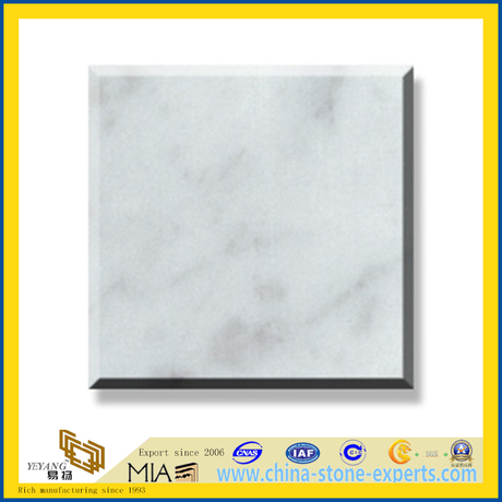 Polished Natural Stone Bianco Carrara Marble Slabs for Wall/Flooring (YQC)