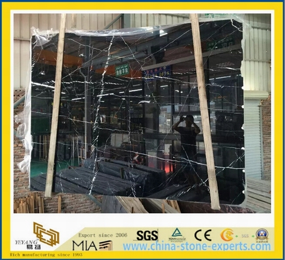 Black Nero Marquina Marble Slab for Wall /Flooring Tile-Yya