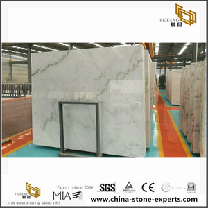 China Carrara White marble/ Guangxi White Marble for slab and tile