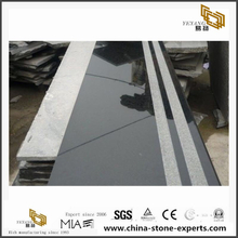 China Cheap G684 Black Pearl Granite Flooring/Tiles/Slabs
