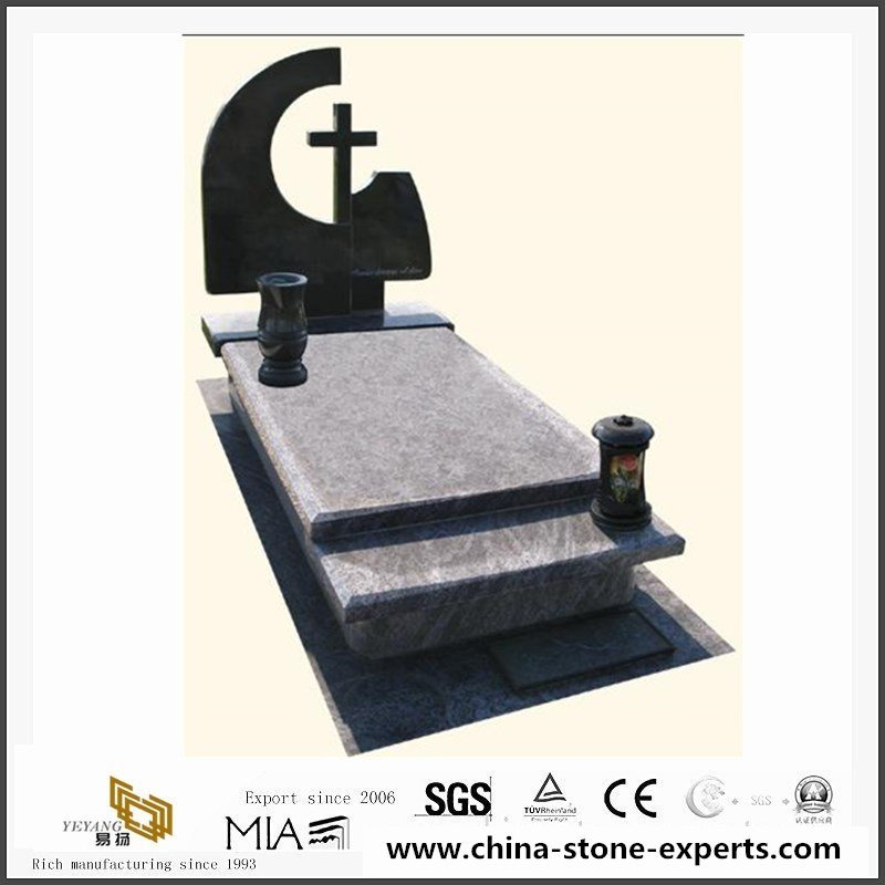 polished-granite-monuments-with-cross