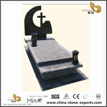 Polished Granite Monuments with Cross Headstones for Sale