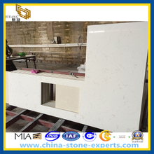 White Crystal Artificial Quartz Stone Kitchen Countertop (YQZ-QC1003)