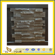 Natural Black Slate Wall Cladding, Manufactured Thin Cultured Stone Veneer (YQA-S1026)