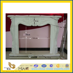Natural Stone Marble & Granite Fireplace (YQC)