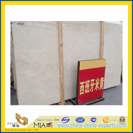 Crema Marfil Marble Slab for Flooring Decoration