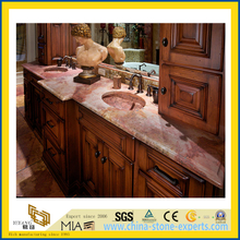 Natural Stone Polished Coral Red Marble Countertop for Kitchen/Bathroom (YQC)