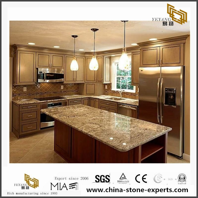 China Coffee Brown Quartz Stone Countertop with cheap price