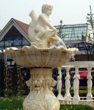 Natural Marble Carved Water Fountain for Garden, Square