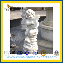 Natural White Stone Carving/Sculpture For Garden Decoration(YQG-CS1003)