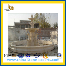 Beige Marble Stone Dolphin Water Fountain(YQG-CS1011)