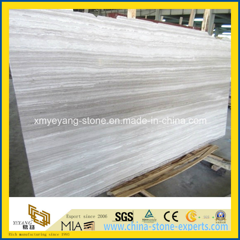 Natural White/Grey/Black/Coffee/Ancient Wooden Vein Marble for Floor or Wall Tile