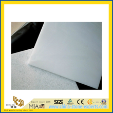 Natural Polished Pure Crystal White Marble Tile for Wall/Flooring (YQC)