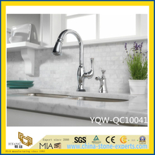 White Polished Artificial Quartz Stone Countertop for Kitchen/Bathroom/Hotel