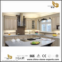 Sparkle Gray Quartz slabs Used for Floorings/Countertops in Hotels