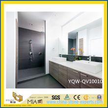 White Artifical Stone Quartz Vanity Tops for Bathrooms, Hotel