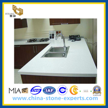 Crystal White Artifical Stone Quartz Countertop for Kitchen (YQG-CV1005)