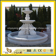 100% Hand Carved G603 Granite Water Fountain for Garden Ornament