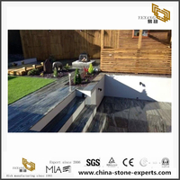 Grey Granite stairs /Nero Santiago Granite stairs hot sale