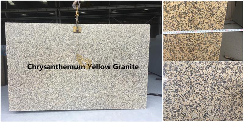 China Quality Chrysanthemum Yellow Granite Slabs