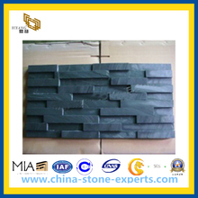 Natural P018 Black Slate Wall Tile for Garden Stone(YQG-PV1064)
