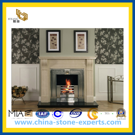 Carved Stone Fireplace for Indoor Decoration(YQG-CS1015)