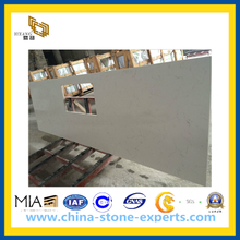 White Artificial Quartz Stone Countertop for Kitchen and Bathroom(YQG-CV1040)