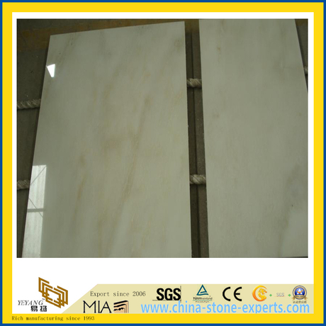 Polished White Jade Marble Slabs for Countertop or Vanity Top