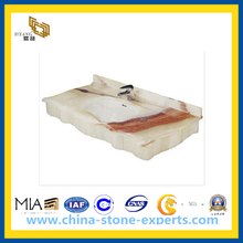 White Marble Bath Vanity Top for Bathroom(YQG-MC1014)