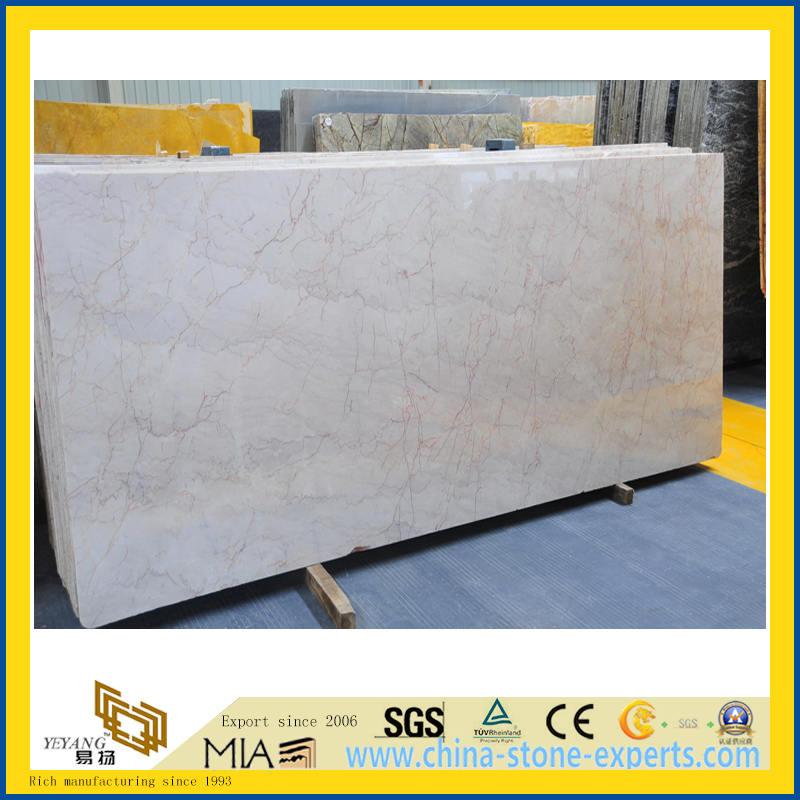 Polished Cream Rosa Marble Slab for Countertop/Wall/Floor Decoration