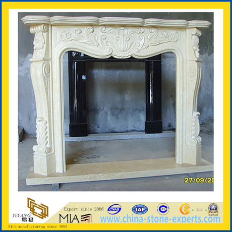 Indoor Outdoor Decoration Quartz Stones Fireplace (YQG-F1003)
