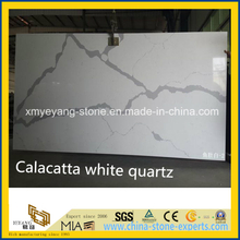 Calacatta White Artificial Quartz Stone Slab / Cut-to-Size Slab