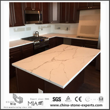 Custom White Calacatta Quartz Kitchen Countertops(YQW-QC0629020)