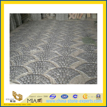 Natural Grey Cobble Slate Mosaic Tile Paving Stone (YQA-S1031)