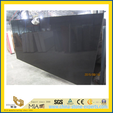 Pure Black Quartz Stone for Indoor Decoration