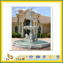 White Marble Fountain with Figure Sculpture(YQG-LS1022)