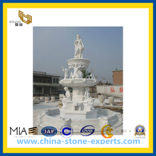 White Marble Stone Carving Statue/Sculpture for Garden(YQG-CS1042)