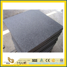 Black Basalt G684 Flamed and Brushed Tile for Flooring