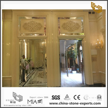 Golden Marble Background for Hall Design (YQW-MB081501)
