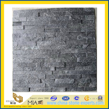 Natural Dark Grey/Black Cultured Stone for Wall Cladding (YQA-S1029)