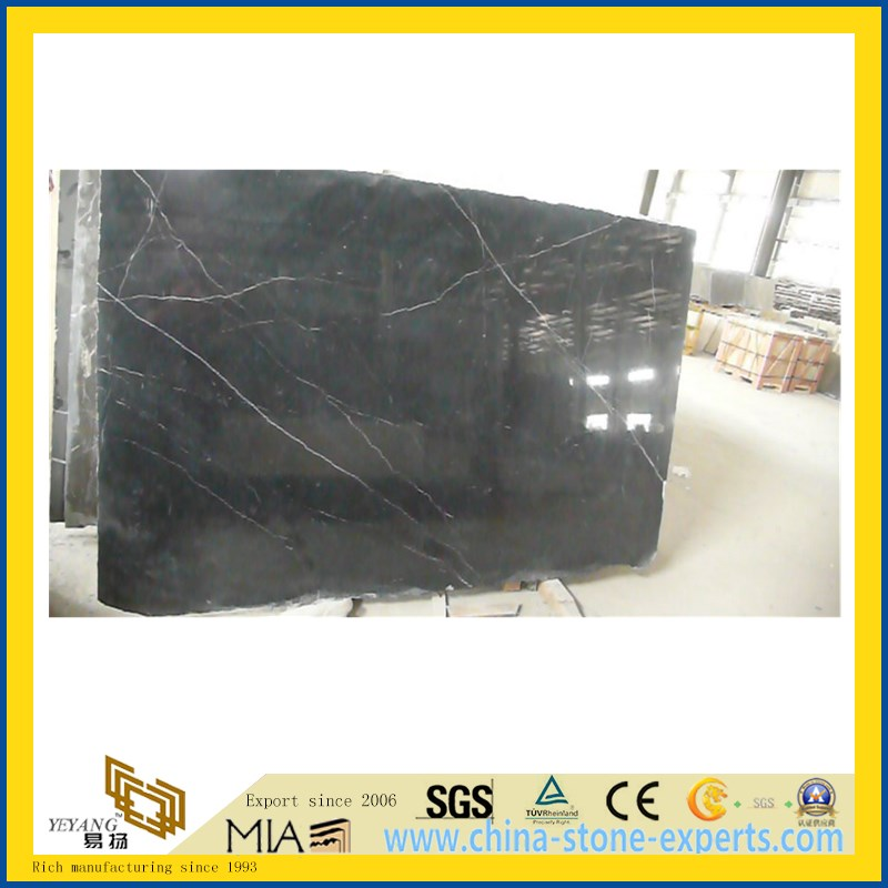 Nero Marquina Marble for Flooring Decoration