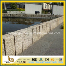 G682 Rusty Yellow Granite Stone Fencing for Garden or Patio
